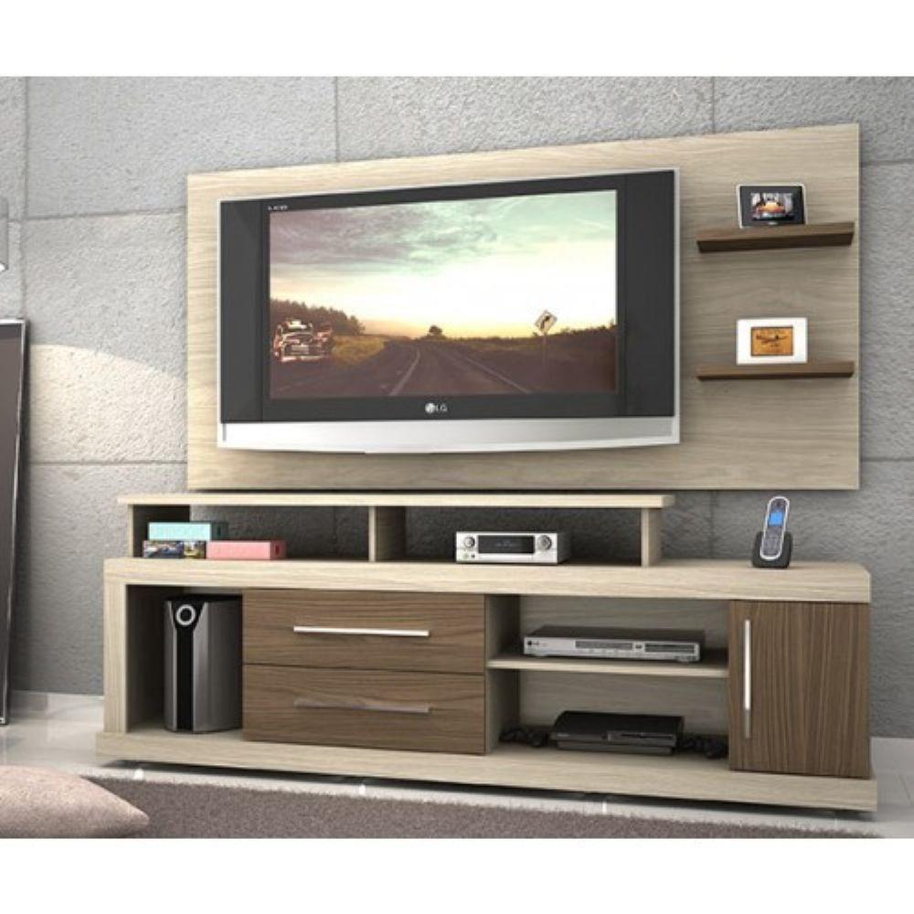 Rack Com Painel Para Tv De 55 Polegadas Perola Avela Racks E  -> Ponto Frio Paineis