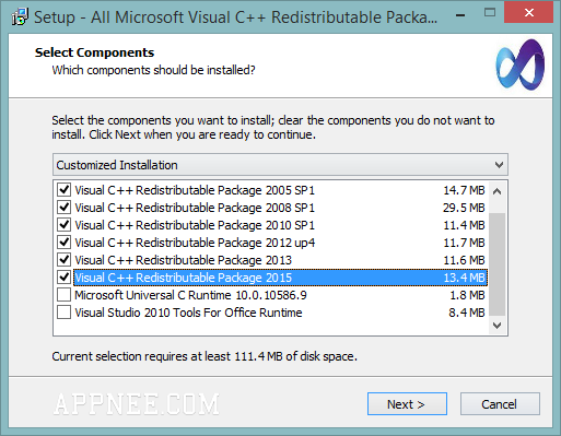 microsoft visual c++ redistributable package (x64) sp1