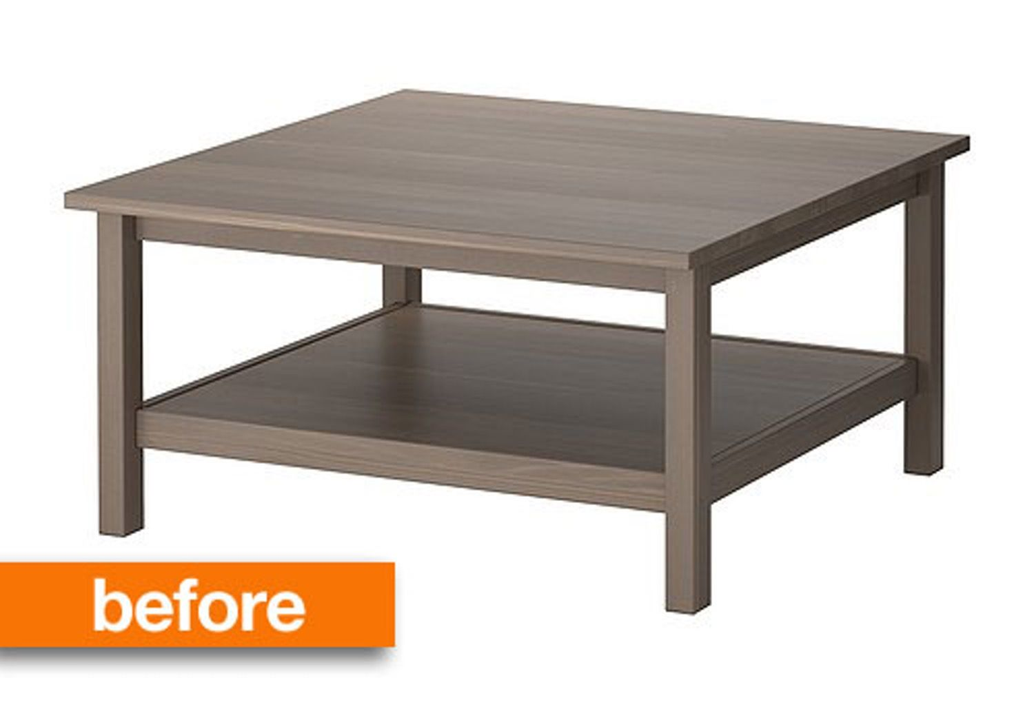 Before After Barnwood Coffee Table Ikea Hack Decorating