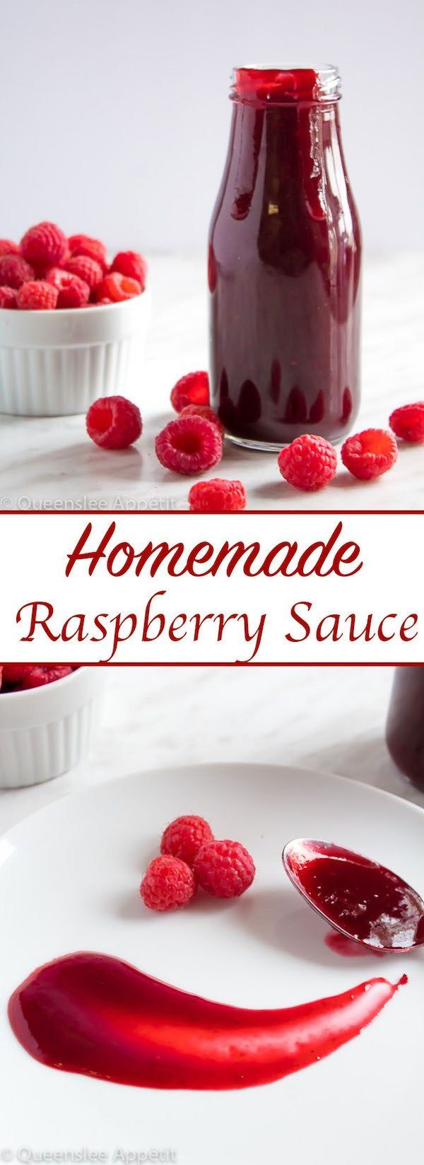 Raspberry Sauce This Homemade Raspberry Sauce is perfect for filling cakes and topping waffles, pancakes, scones, cheesecake and so much more!This Homemade Raspberry Sauce is perfect for filling cakes and topping waffles, pancakes, scones, cheesecake and so much more!