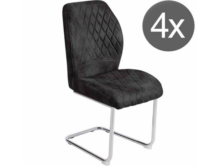 Reality Mikkel Schwingstuhl 4er Set Vintage Anthrazit Home Decor Decor Chair
