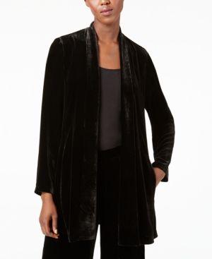 d37da2310585b Eileen Fisher Velvet Shawl-Collar Jacket