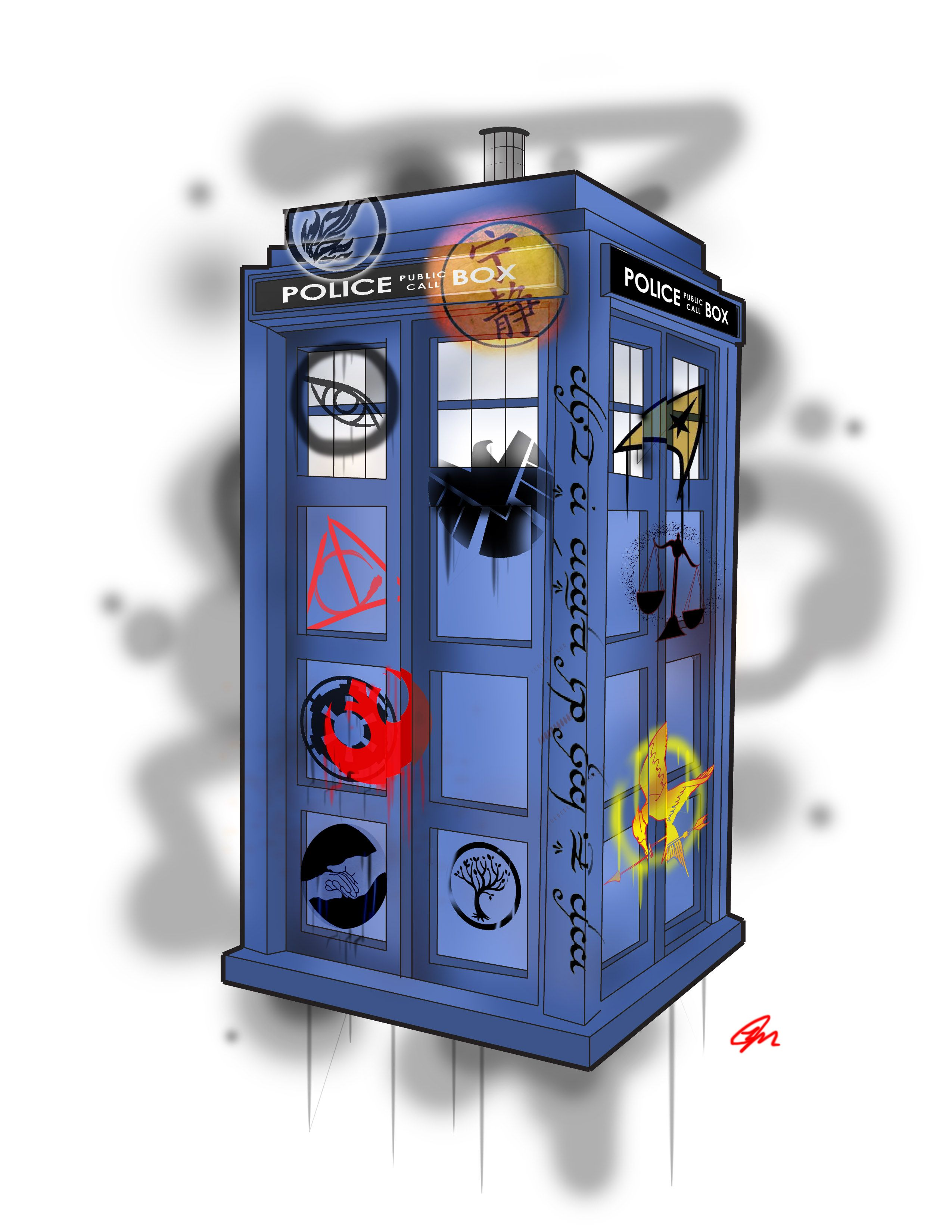 doctor who tattoo star wars divergent to kill a mockingbird doctor who tattoo star wars divergent to kill a mockingbird star trek abnigation police call box elvish lotr graffiti justice league