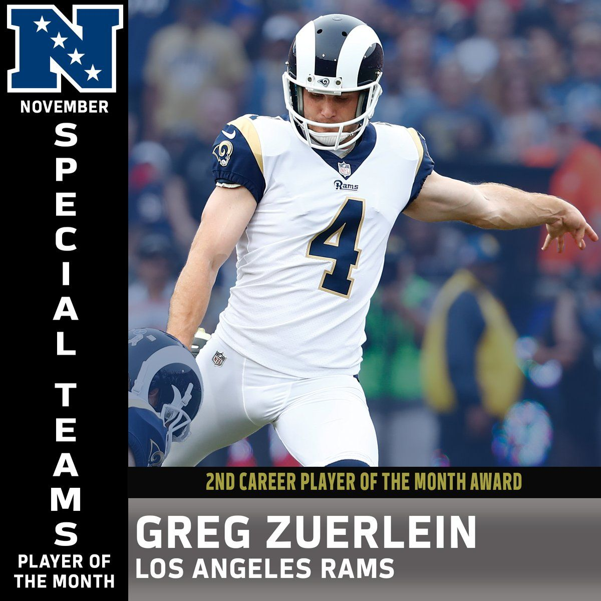 Greg Zuerlein is the 1st player in NFL history to be named