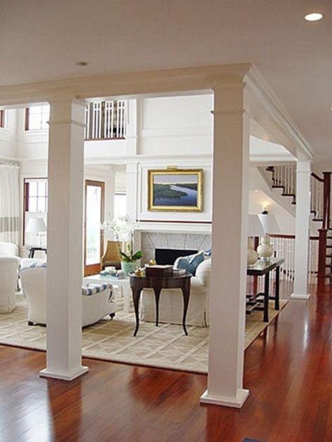 Interior Columns Living Room Remodel Columns In Living Room