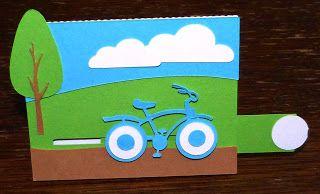 jennyskreativewelt: Bicycle Sliding Card