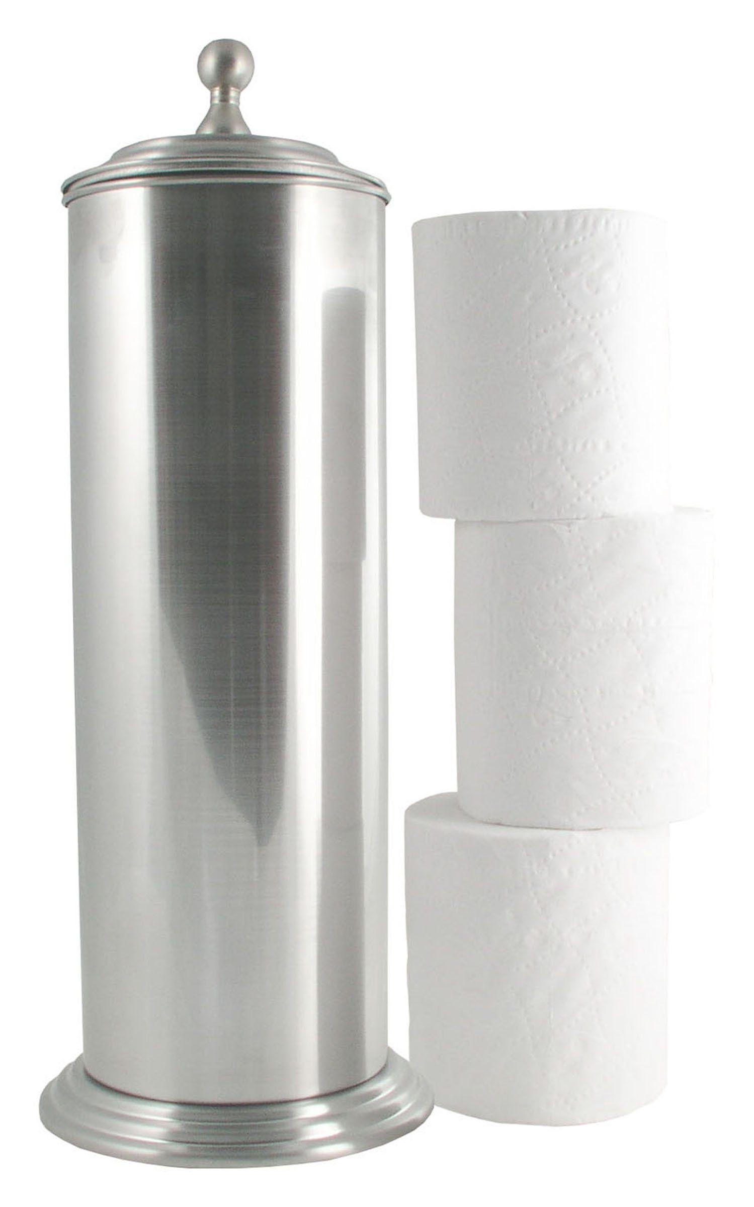 Ldr 164 6456bn Ashton Extra Toilet Paper Holder Brushed Nickel Free Standing Toilet Paper Holder Toilet Paper Holder Canister Paper Holder