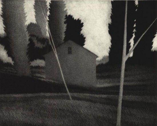 """The Poet's House"" by Robert Kipniss (mezzotint)"