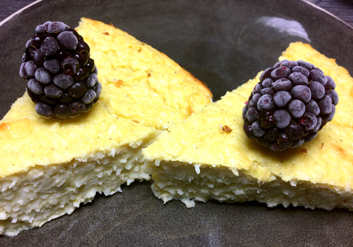 Vanillepudding-Skyr-Kuchen mit Kokosflocken20  Rezepte, Leckeres
