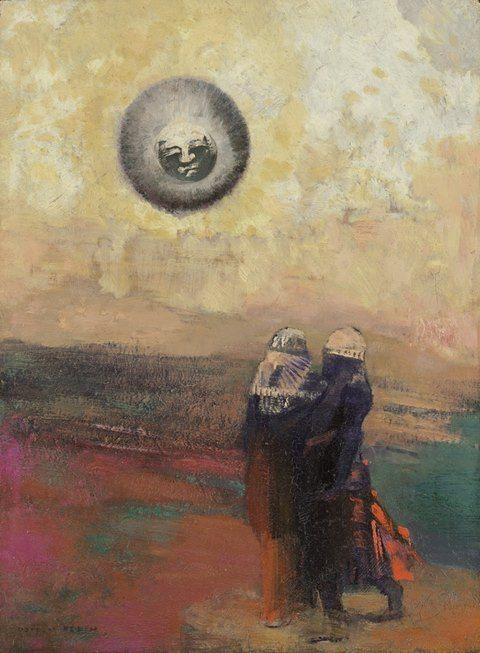 Odilon Redon , The Black Sun, ca. 1900.