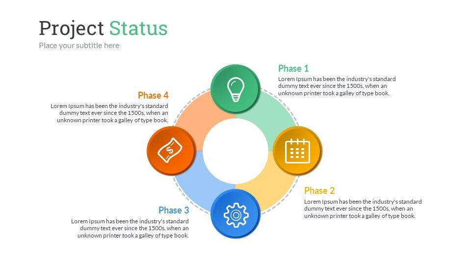 Project Status Powerpoint Presentation Template  Ppt