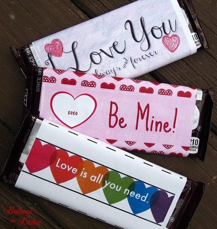 ValentineS Day Hershey Bar Printables  Avery Giveaway