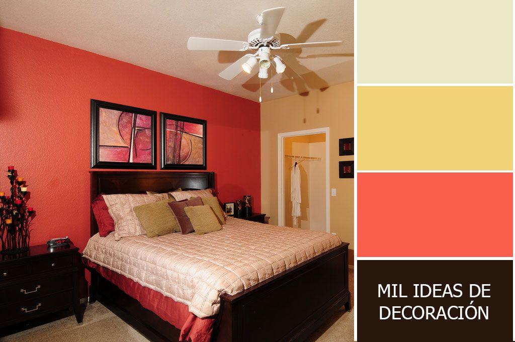 40 magn ficas combinaciones de colores para pintar el - Pintar pared dormitorio ...