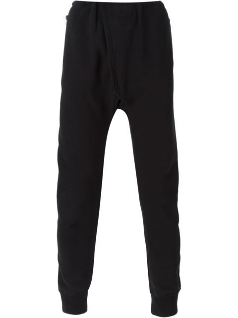 f55c8bd2 Black stretch cotton Adidas Originals by Kanye West drop crotch track pants  from Yeezy featuring an