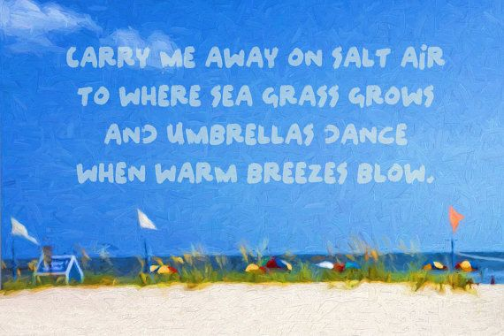 b9c1dc439c Colorful Beach Umbrellas, Inspirational Sea Quote, Coastal Art ...