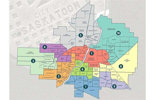 City of Saskatoon This map shows the ward boundaries used for the