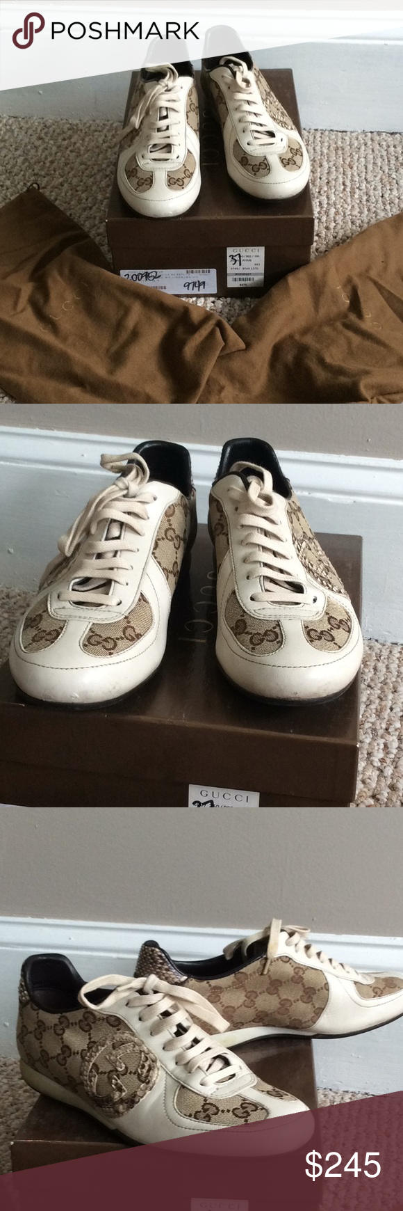 Used Gucci women sneakers Snake print