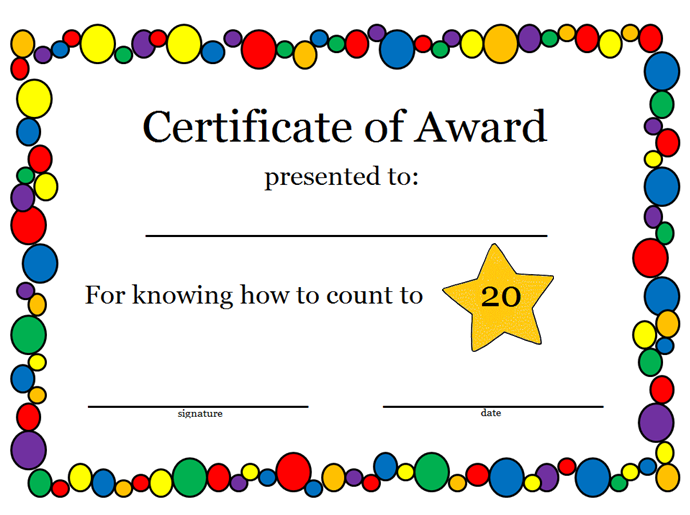 Looking for simple kids awards and certificates? This is a great ...