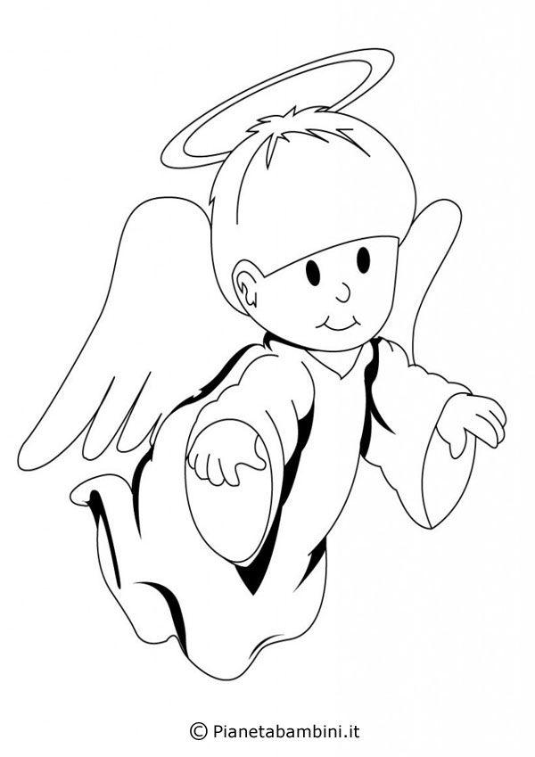 Disegni Da Colorare Angeli Di Natale.Pin Su Angeli