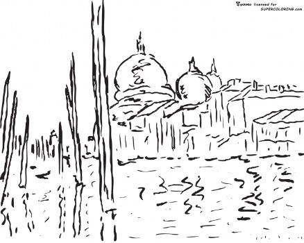 Venice By Claude Monet free printable coloring page | coloring pages ...