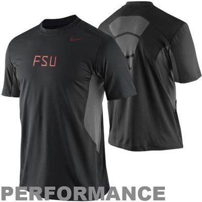36a8b667 Nike Florida State Seminoles (FSU) Pro Combat Hypercool Fitted Performance T -Shirt - Black $50