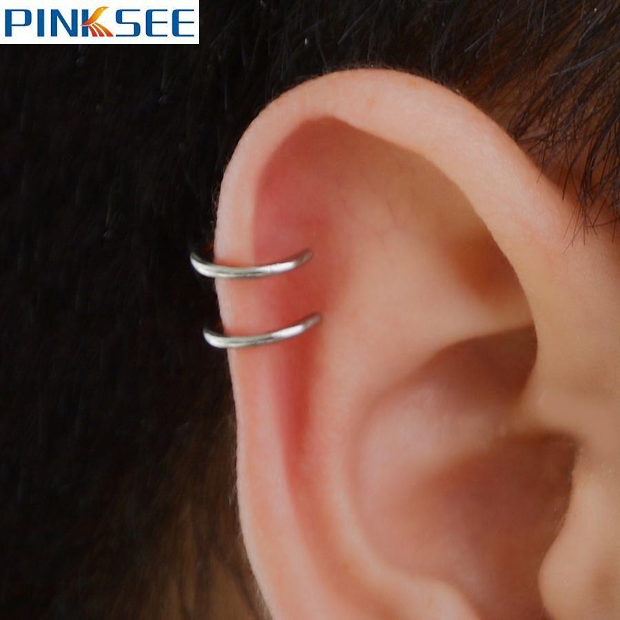 Piercing ideas men   PcsSet Men Women Ear Clip Cuff Wrap Earrings Fashion Helix