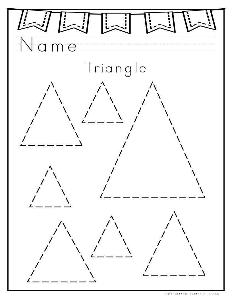 I use these worksheets with my preschoolers to practice shape ...