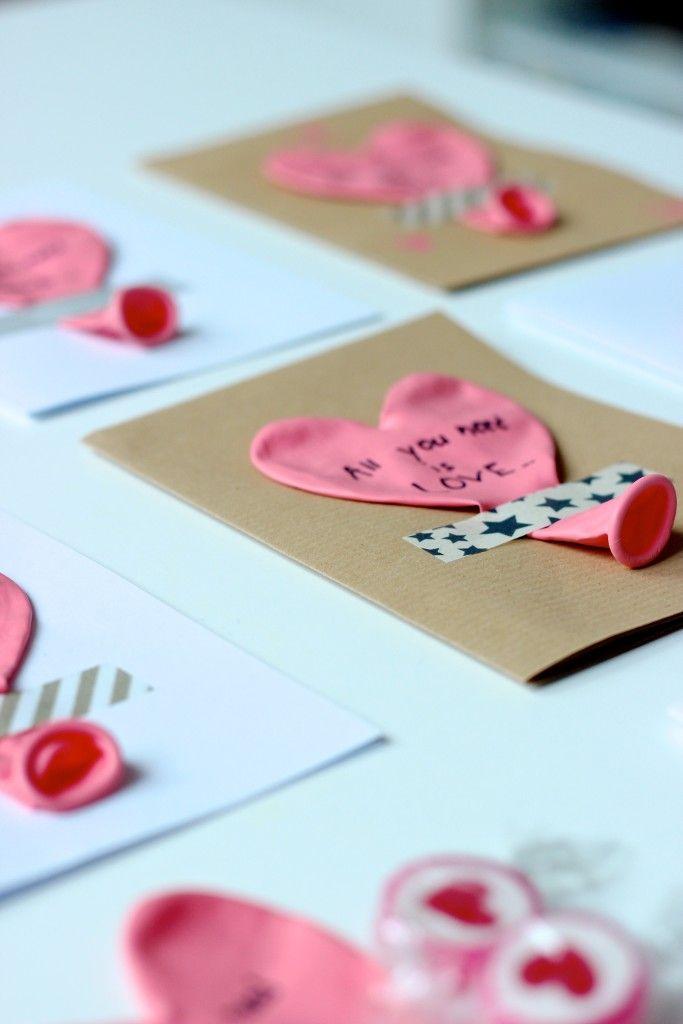 Schnell Selbstgemacht: Karten Zum Valentinstag. Für Den Partner, Für Die  Familie, Für
