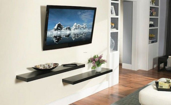 wall mount tv shelf ideas | hook up my place | pinterest | wall