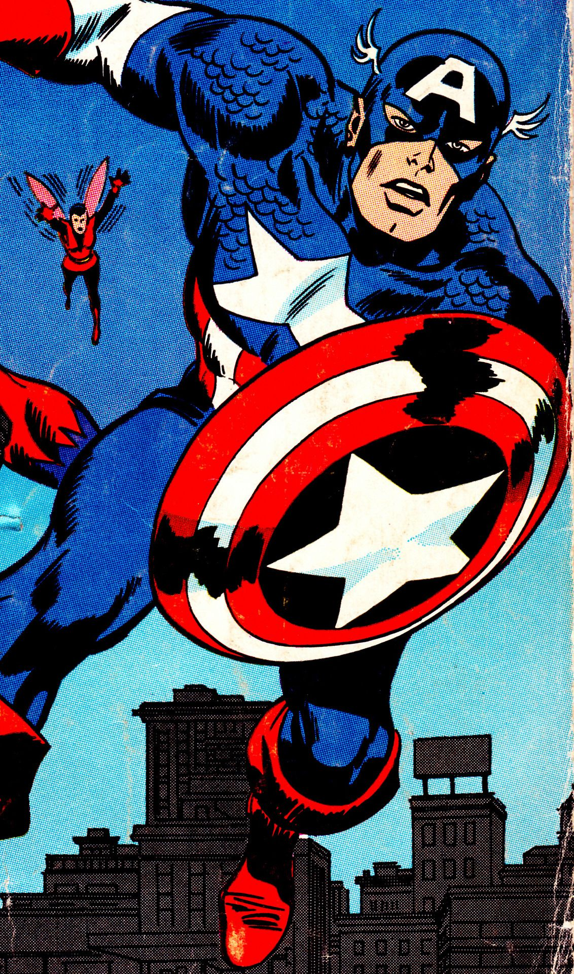 Captain America & The Wasp by John Buscema, Frank Giacoia & Sam Rosen