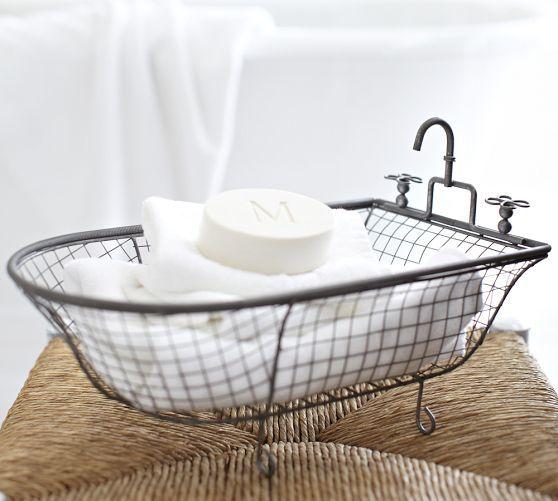 Bathroom Decor Ideas Kirklands kirklands metal bathtub basket: $16.99 http://www.kirklands