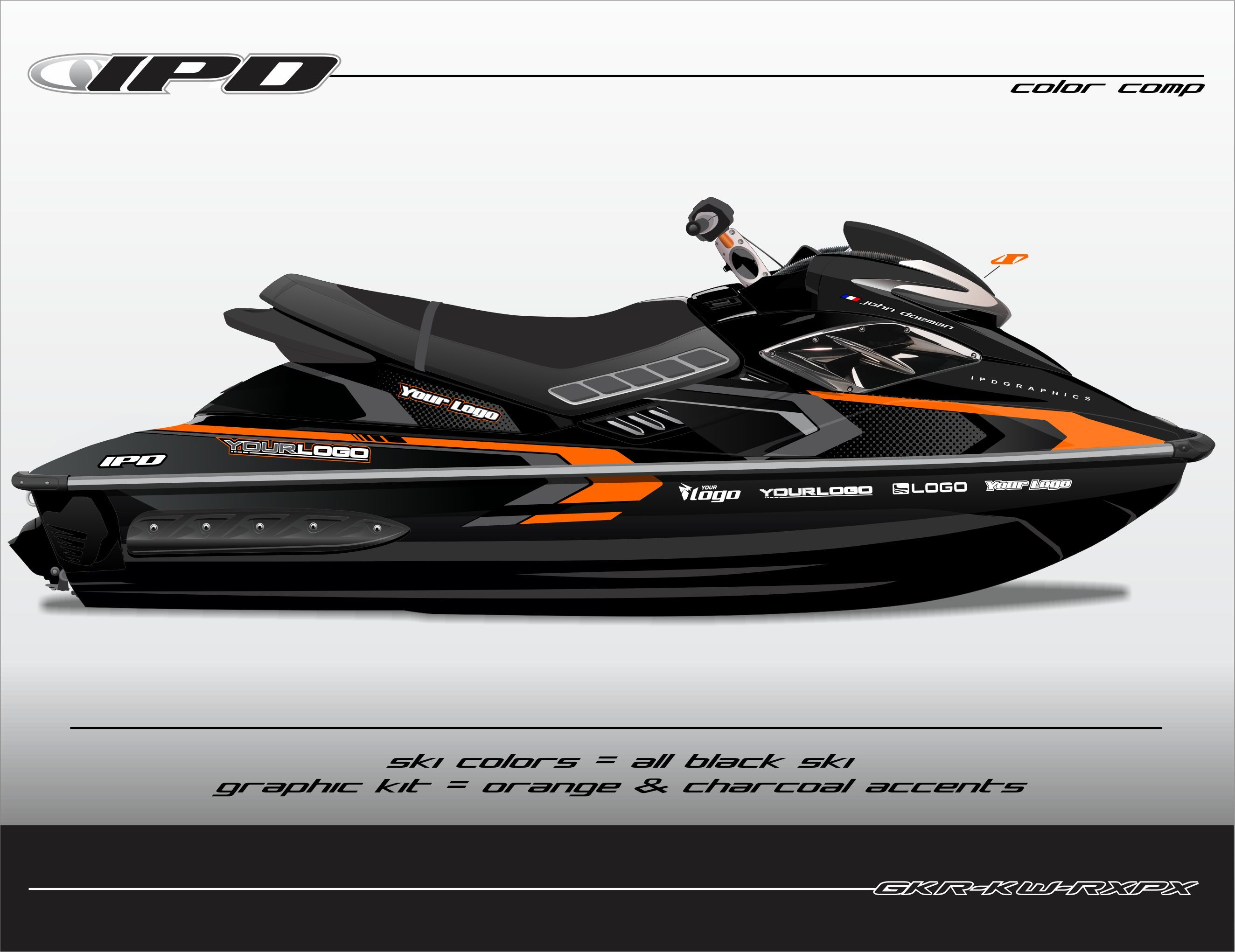Sea-Doo Gen-1 RX, RXP, RXP-X Rec Graphics Kit (KW Design