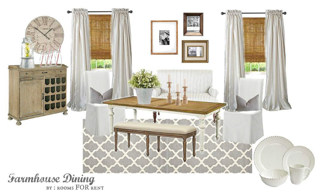 Warm And Cozy Dining Room Moodboard: Dining Room Mood Board Design Around Joss & Main Products