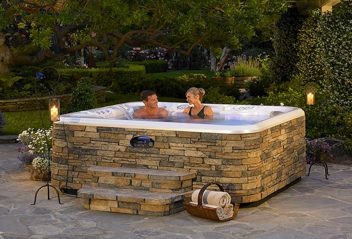 Above Ground Hot Tub Landscaping Hot Tubs Jacuzzis Pinterest