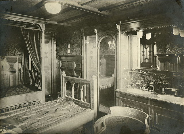 R M S Titanic Interior Of First Class Cabin In Dutch Renaissance Style Titanic 100 Years