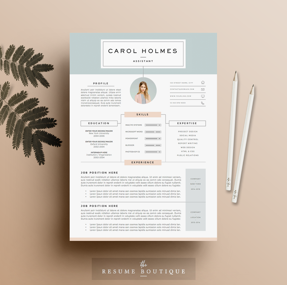 Resume Template 4page Milky Way by TheResumeBoutique on