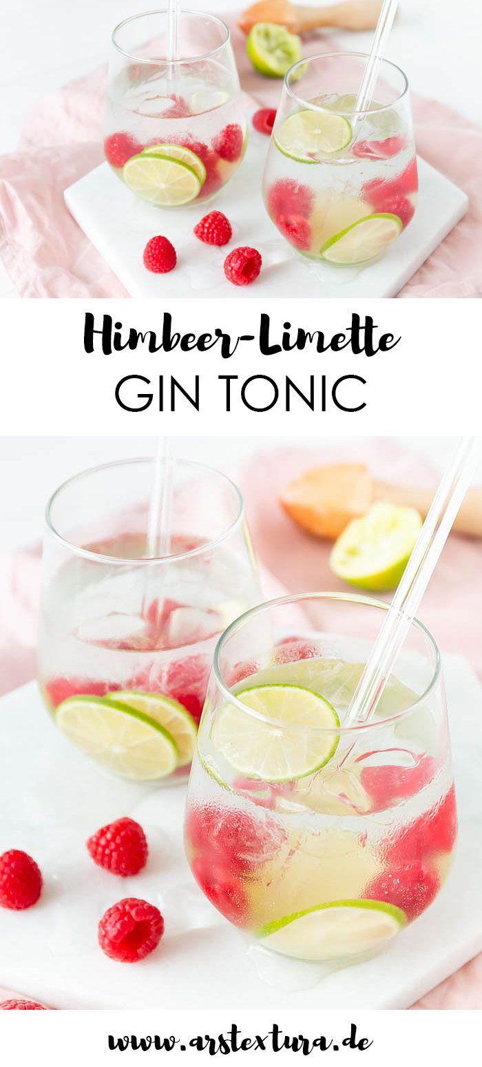 Rezept Himbeer-Limette Gin Tonic - ein perfekter Drink für den Sommer - Getränke für den Sommer - Cocktail Rezept - Longdrink Rezept #gintonic #himbeere #limette