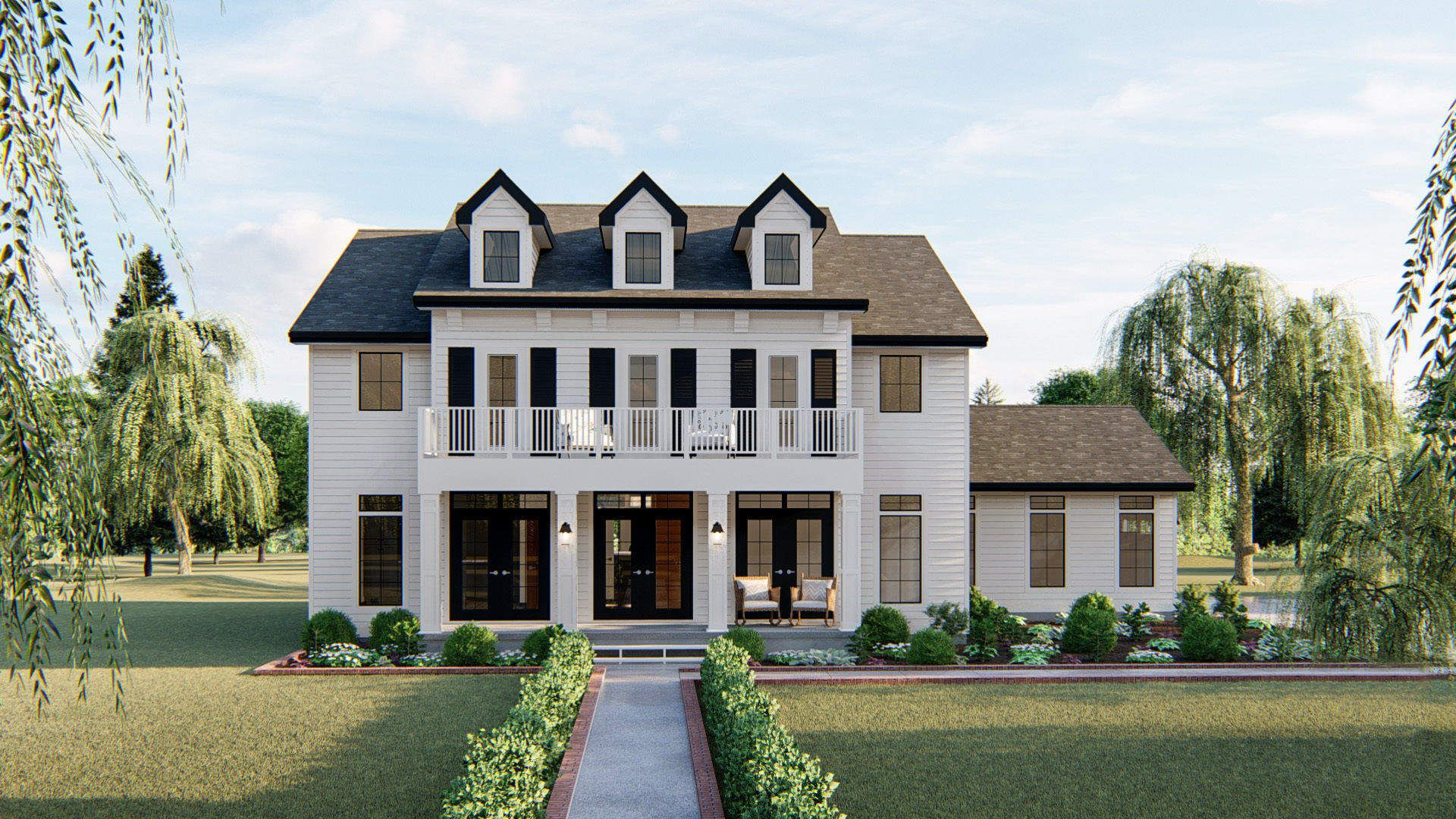 2 story southern style house plan birmingham in 2020