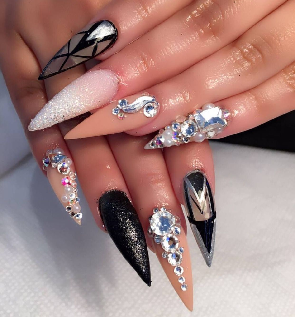 Pin by Kourtney Jones on Nails | Pinterest | Nail nail, Claw nails ...