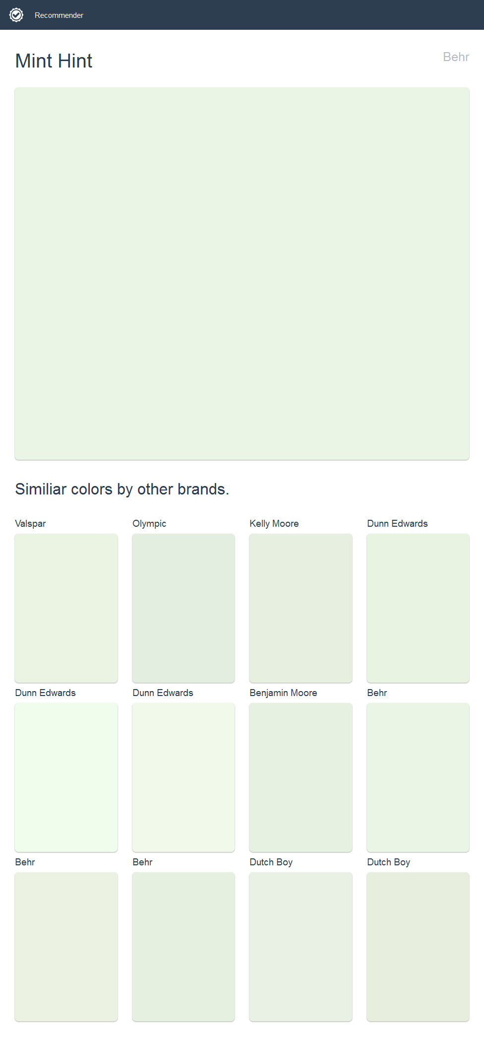 mint hint behr click the image to see similiar colors by on valspar paint visualizer interior id=53506