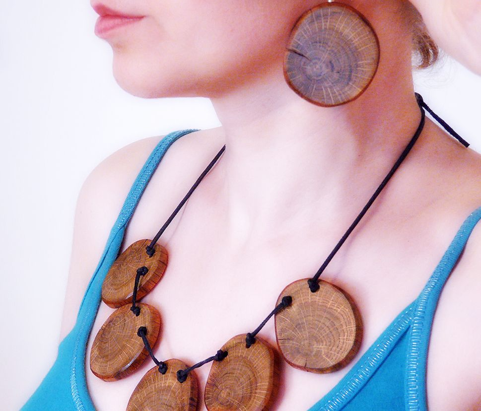 I also love any jewelry that is made from wood