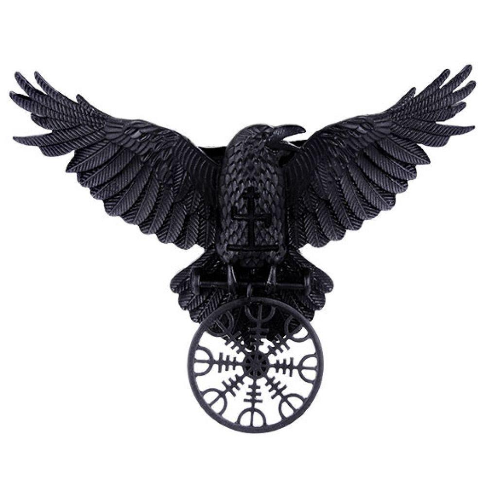Raven Viking Tattoo: RESTYLE - Helm Of Awe Raven Hårklämma