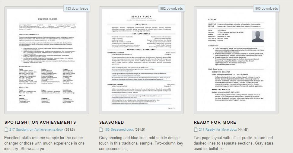 Escribiendo tu currículum? Descarga gratis 275 plantillas en Word ...