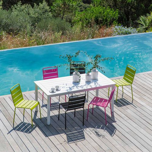 Chaise de jardin en métal BATIGNOLES | Maisons du Monde ...