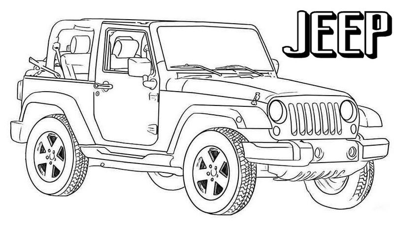 Is You And Your Boys A Jeep Fan If Your Answer To These Questions Is Yes That They Love This Four Wheeler Then In 2020 Jeep Drawing Jeep Wrangler Cars Coloring Pages
