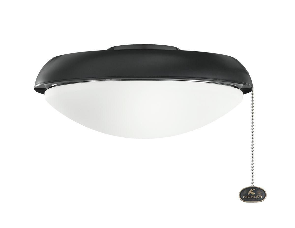 0-019958>1-Light Fan Light Kits Satin Black