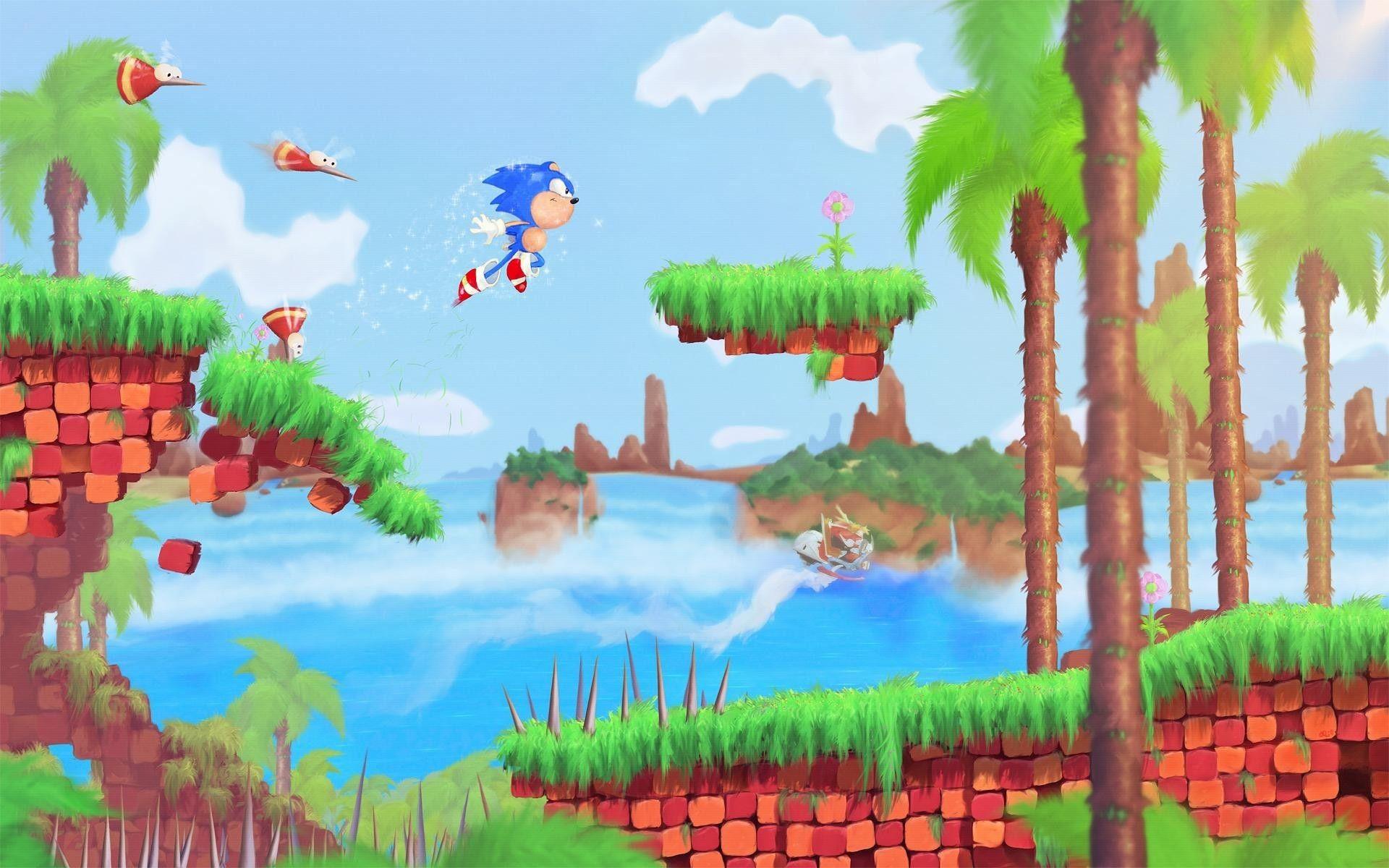 Spikes Digital Art Artwork Retro Sega Sea Wallpaper Sonic Fotos Gigantes De Acero Retro