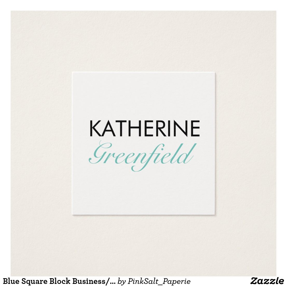 Blue Square Block Business/Appointment Card | Business cards ...