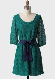 kiss of emerald lace dress