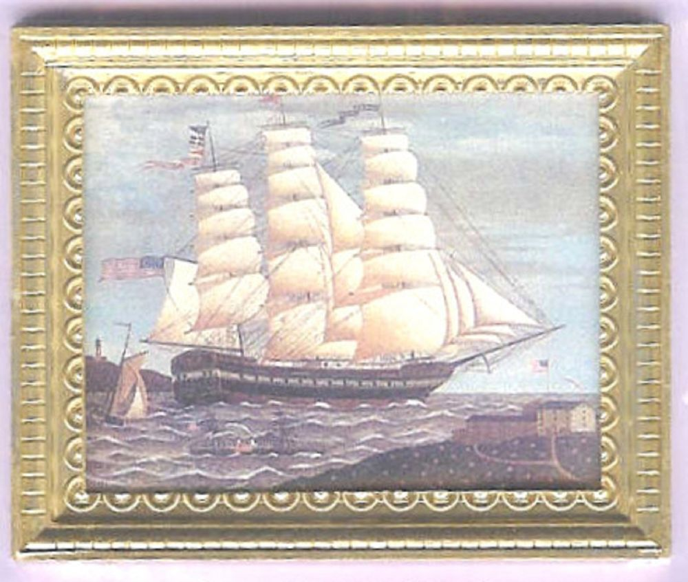 1800/'s Sail Boat Miniature Dollhouse Doll House Picture
